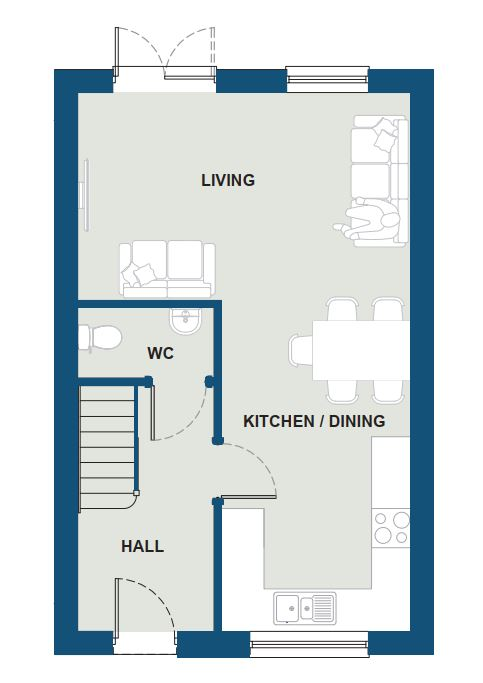 Ground Floor - The Lanyon [Open Plan Variation]